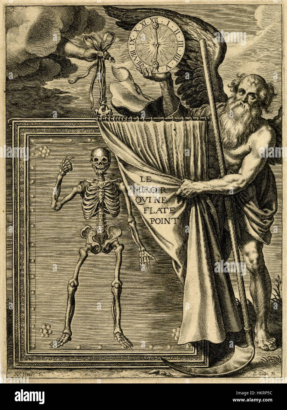 Cornelis Galle (I) and Nicolaas van der Horst - Frontispiece to Pierre Puget de la Serre's Le Miroir qui ne - Stock Image