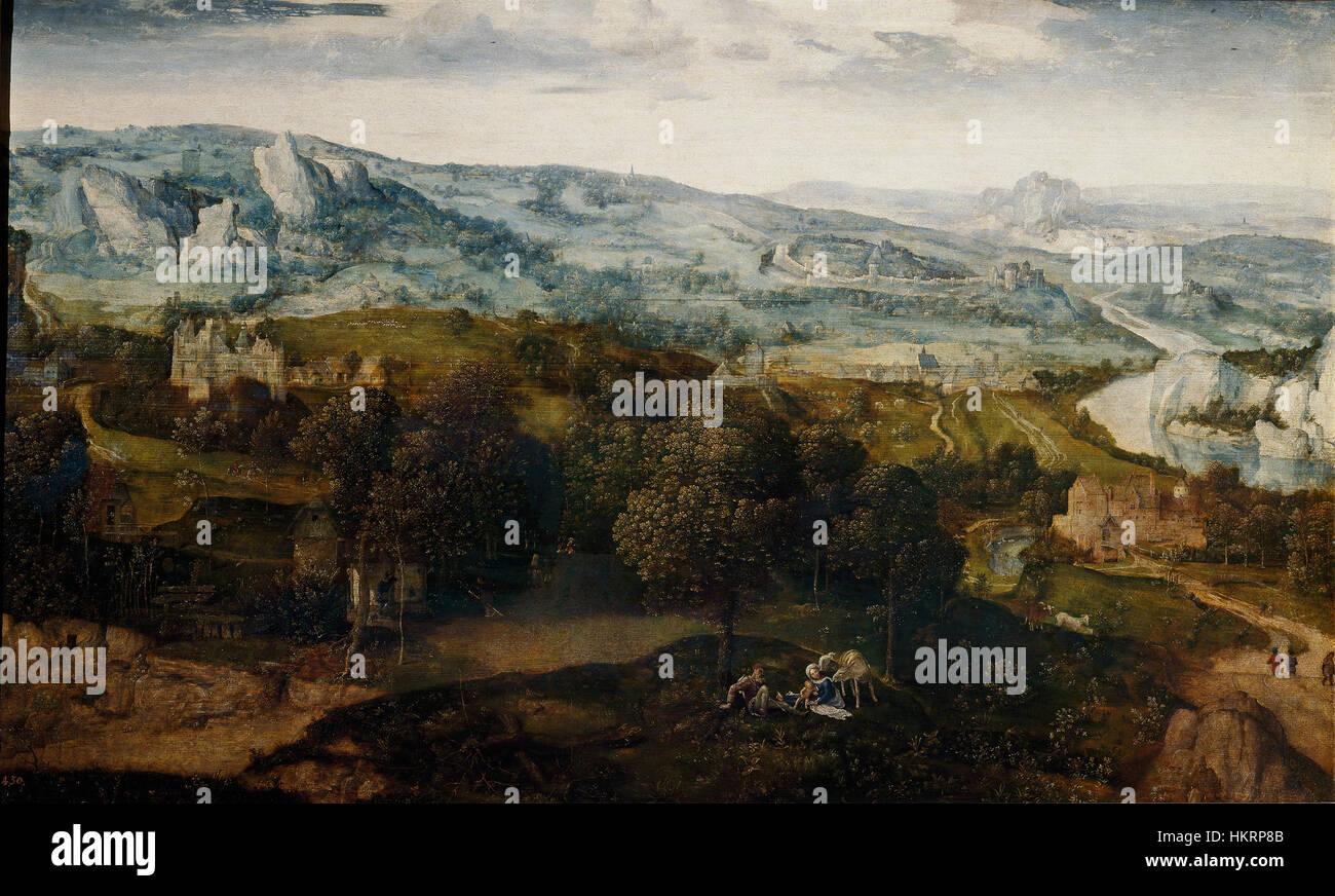 Cornelis massys-huida egipto-prado - Stock Image