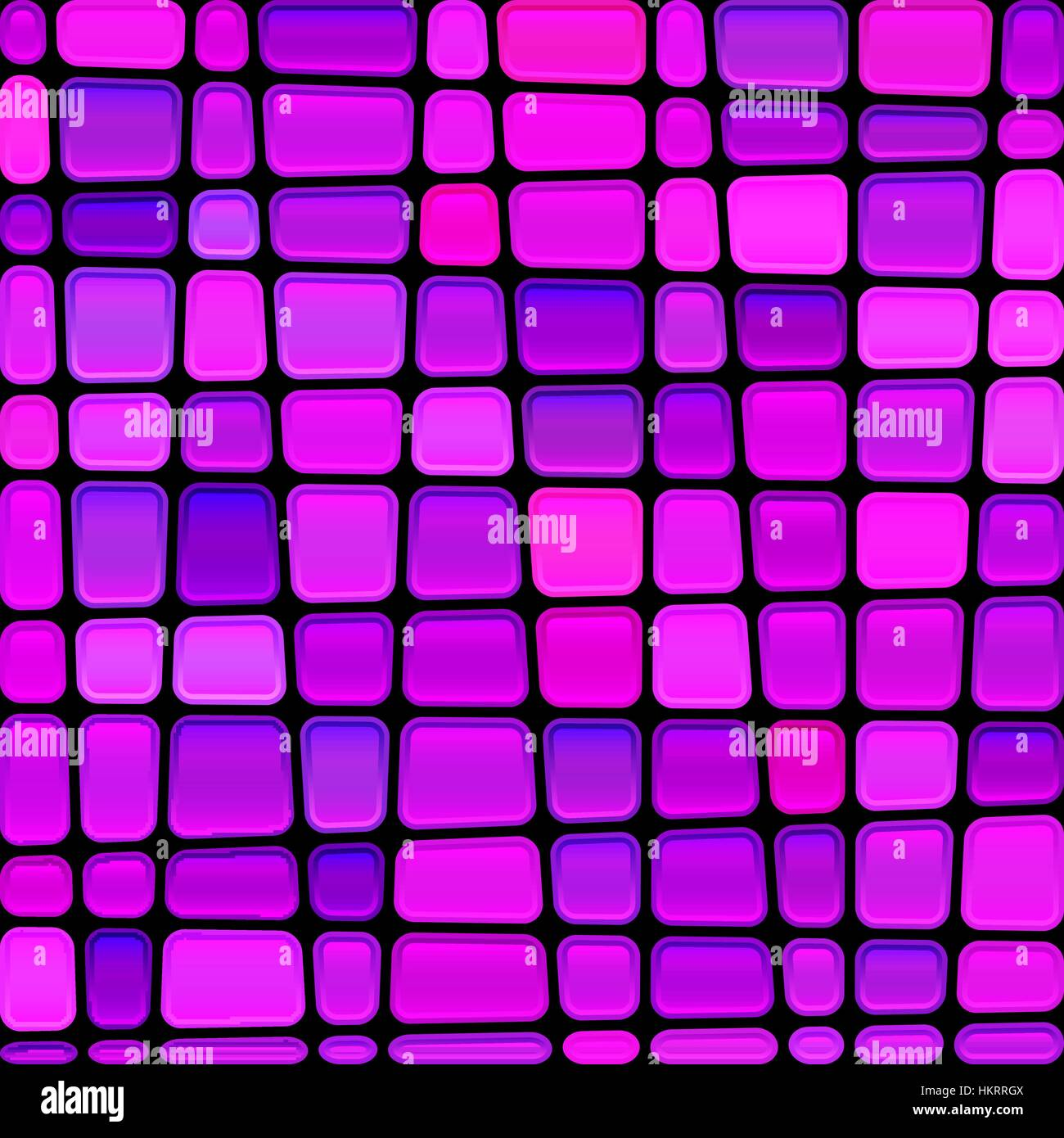 abstract vector stained-glass mosaic background - magenta nad violet - Stock Image