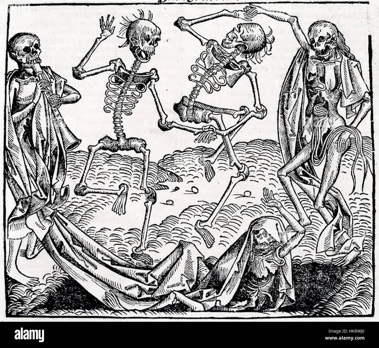 Danse macabre by Michael Wolgemut - Stock Image