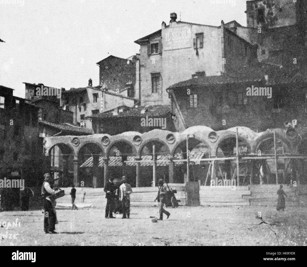 Demolizione della loggia del pesce dal mercato vecchio, 1880s - Stock Image