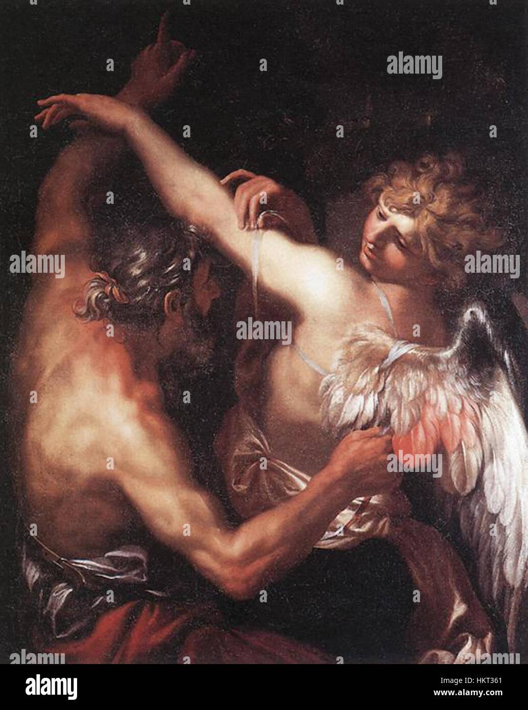 Domenico Piola - Daedalus and Icarus - WGA17838 - Stock Image