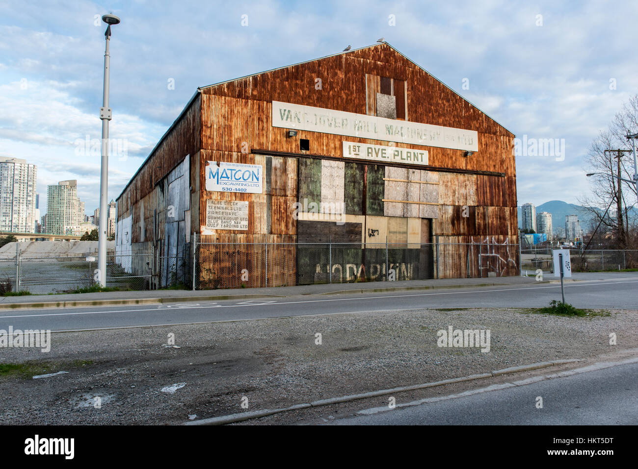 An old metal clad warehouse, last of its kind on the False