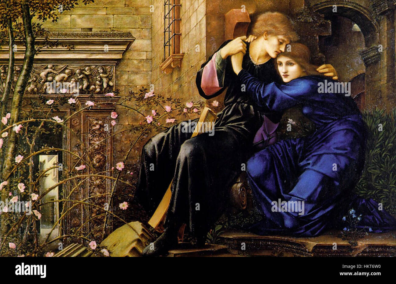 Edward Burne-Jones Love Among the Ruins - Stock Image