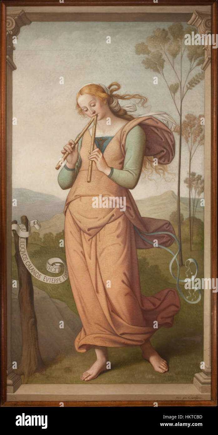 Euterpe, Muse of Poetry by Egide Godfried Guffens Stock Photo