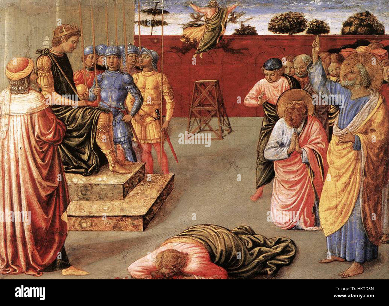 Fall of Simon Magus, Benozzo Gozzoli (1461-1462)