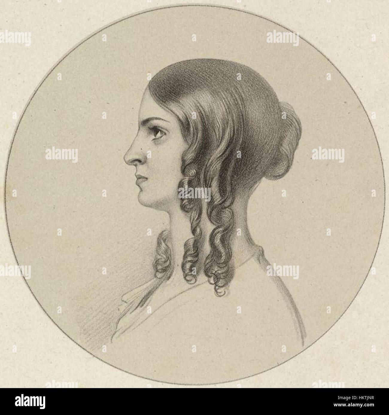 Frances Anne ('Fanny') Kemble by Richard James Lane - Stock Image
