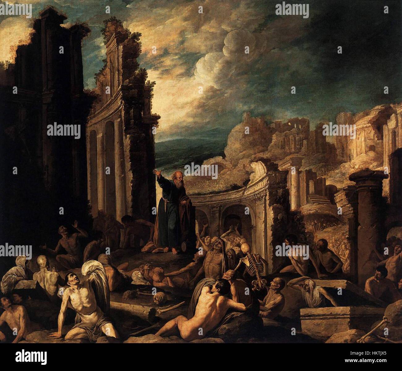Francisco Collantes - The Vision of Ezekiel - WGA5153 - Stock Image