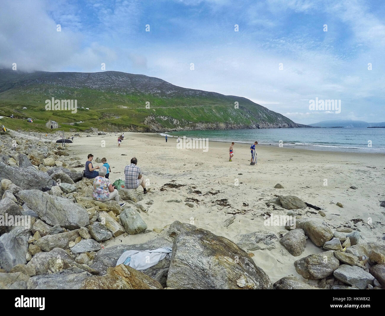 Remote secluded beach on the west coast of Ireland - Stock Image