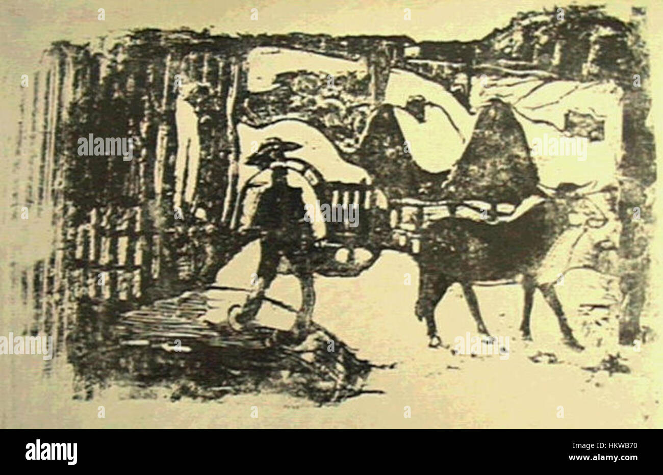 Gauguin - Suite Vollard K51 - Stock Image