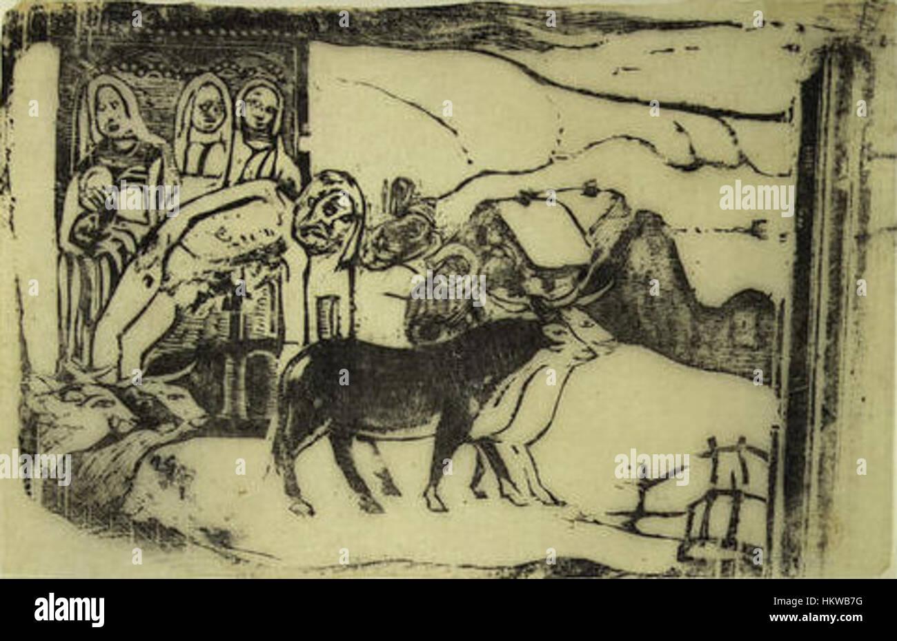 Gauguin - Suite Vollard K50 - Stock Image
