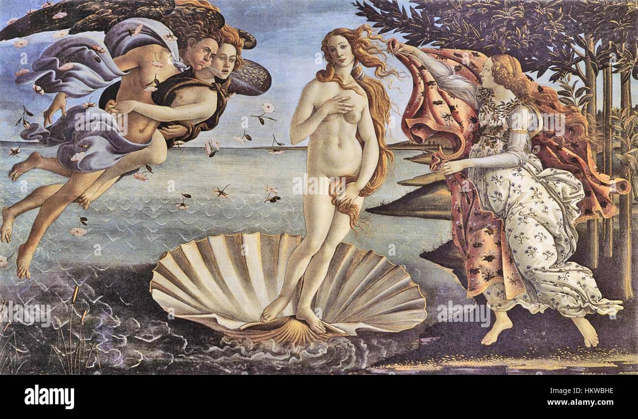 Gebuert vun der Venus vum Sandro Botticelli Stock Photo