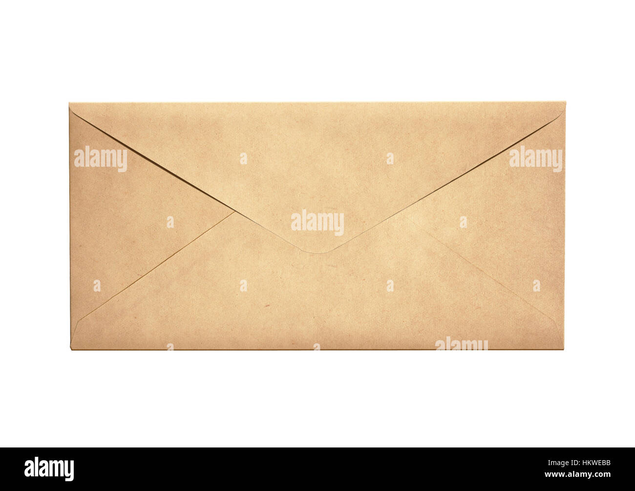 Old narrow letter envelope isolated - Stock Image