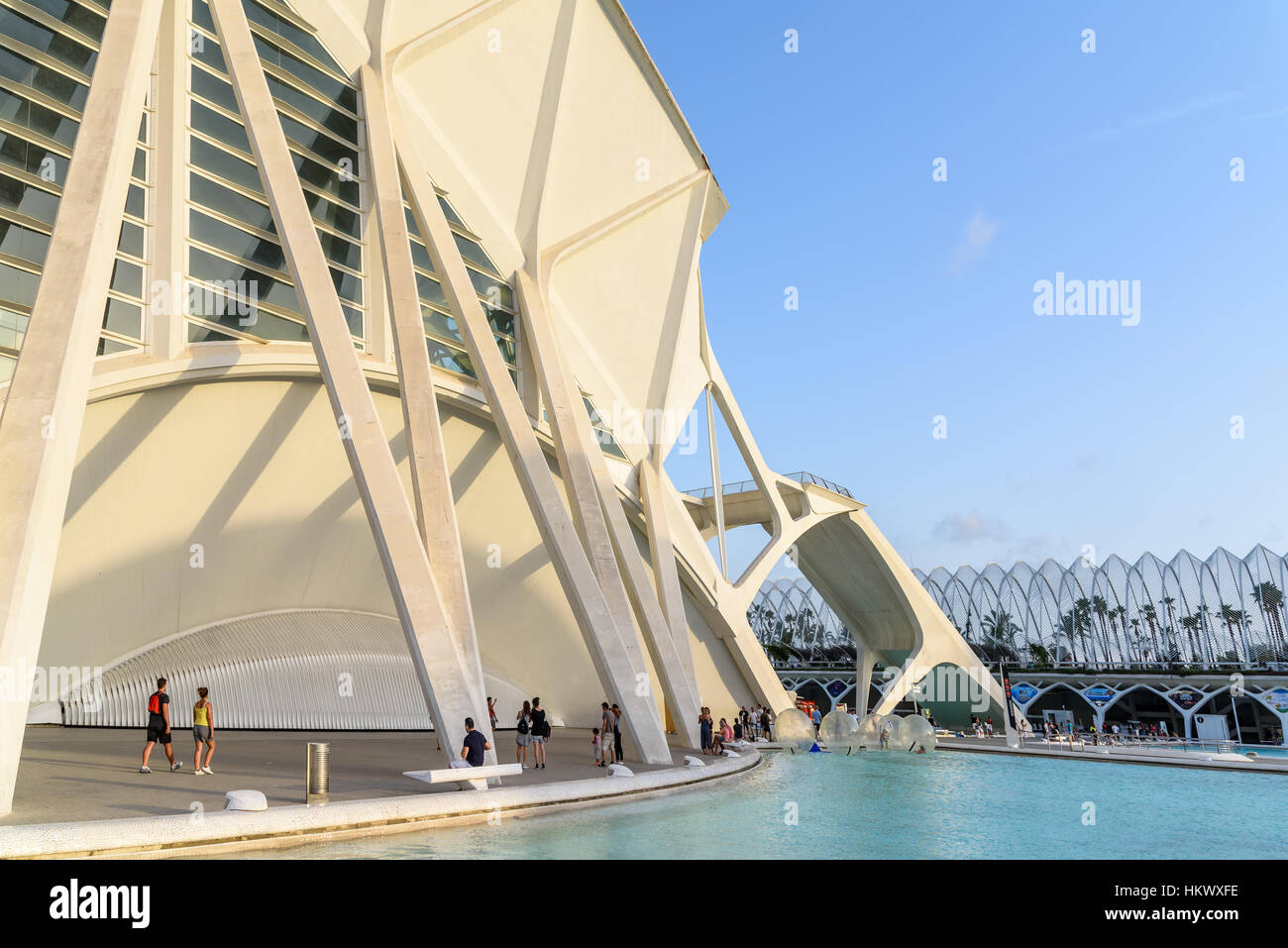 Prince Philip Science Museum of City of Arts and Sciences is an entertainment based cultural and architectural complex - Stock Image