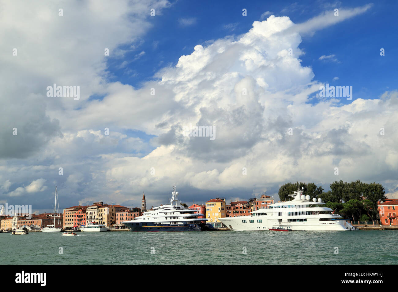 Superyachts Freedom and Lady S (IMO 8975067 and 1008217) - Stock Image