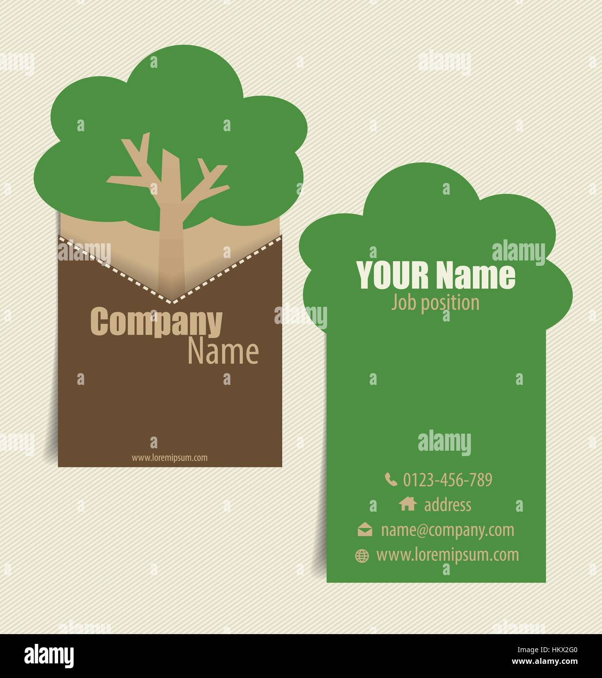 Modern business card template with nature background vector stock modern business card template with nature background vector illustration reheart Images