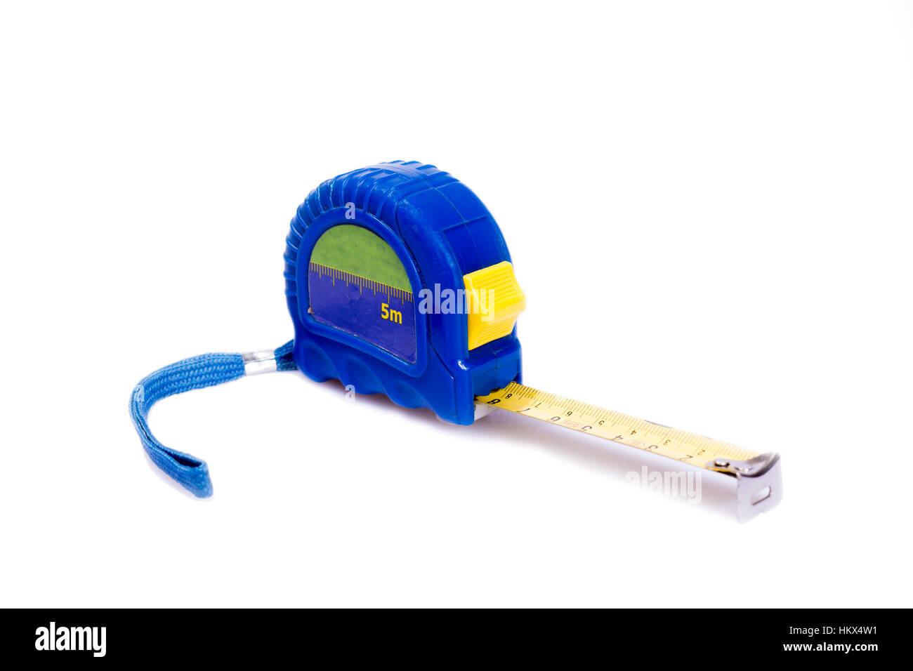 Tape measure isolated on white background. - Stock Image
