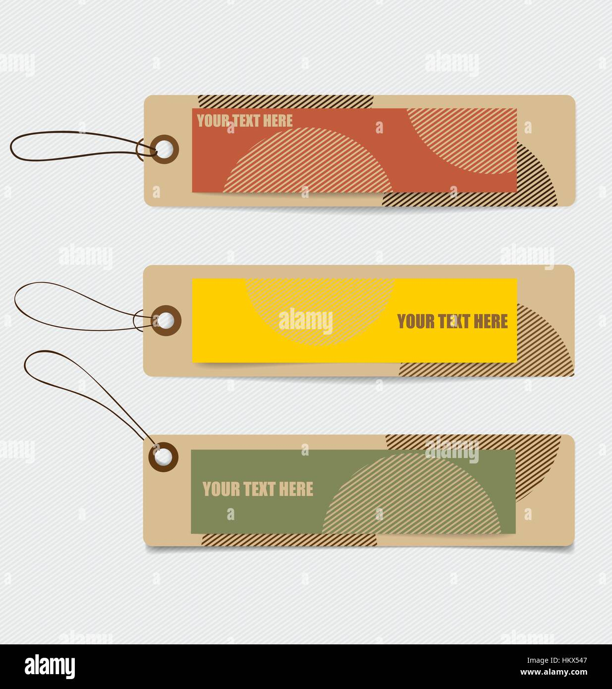 cute note papers tag vintage style template design vector stock