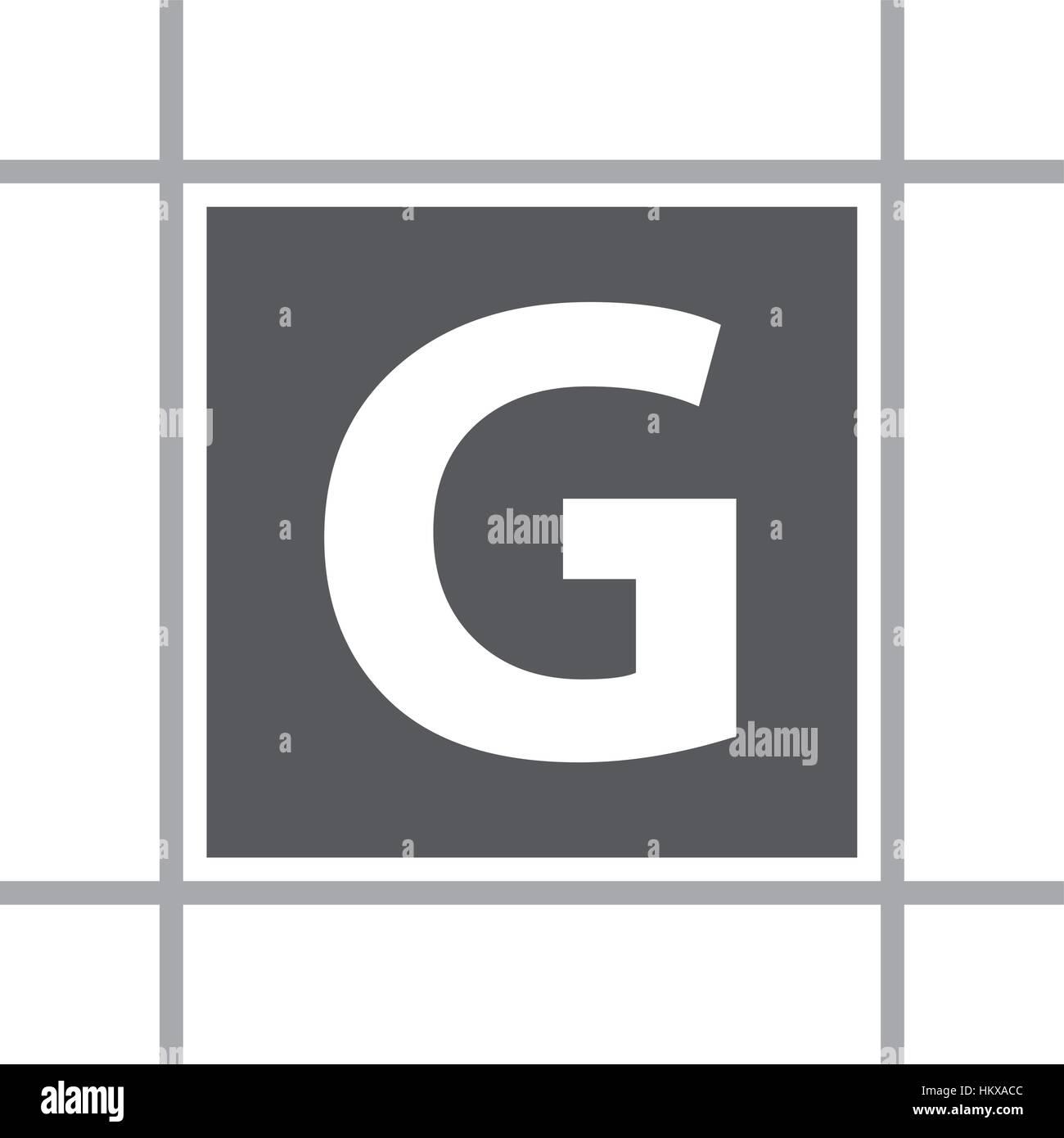 Letter G In Box Stock Vector Art & Illustration Vector Image