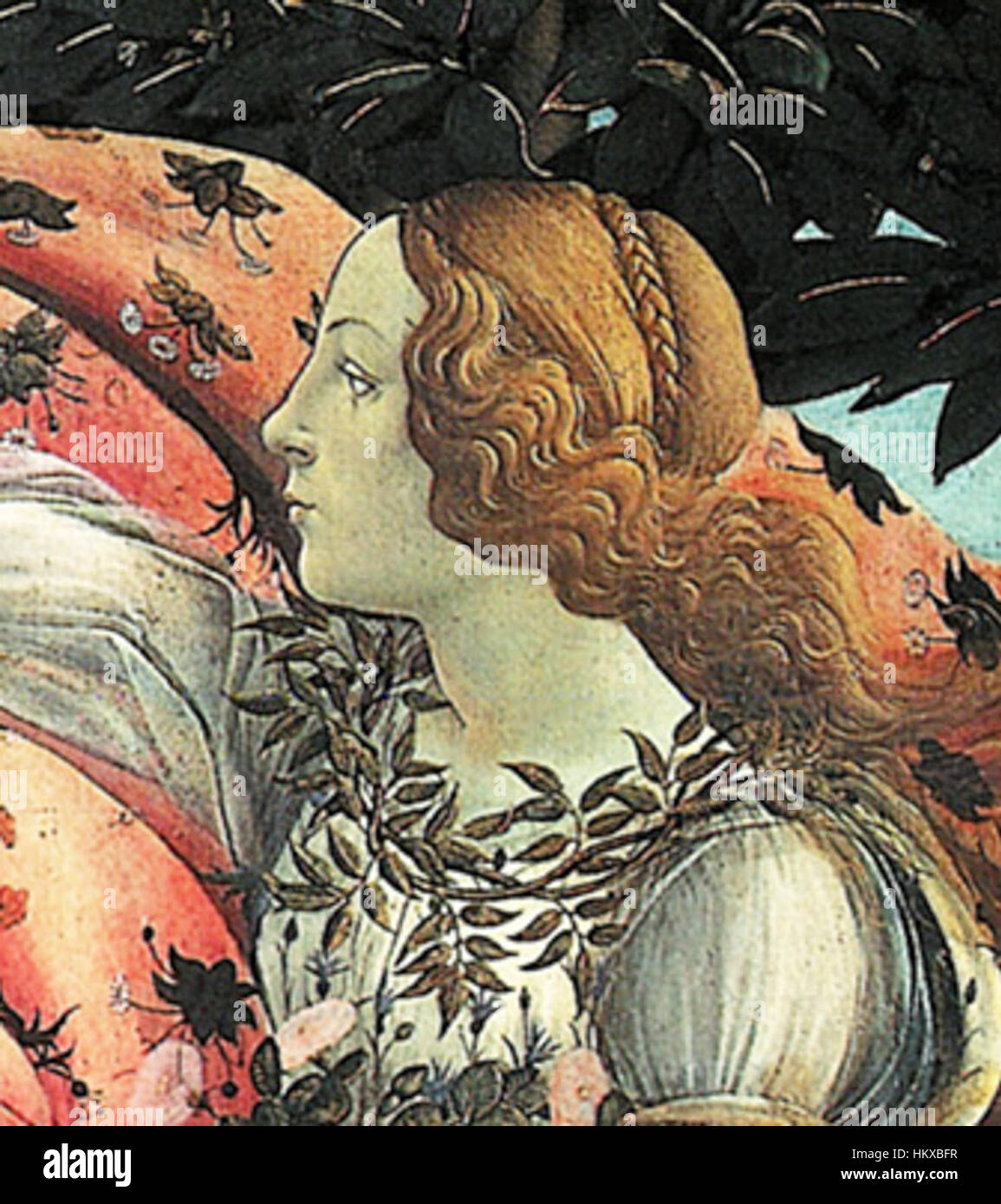 Botticelli Birth of Venus detail Flora Stock Photo