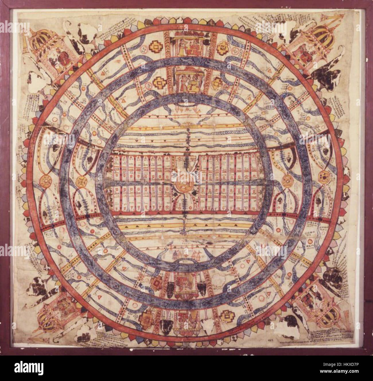 Brooklyn Museum - Cosmic Diagram - Stock Image