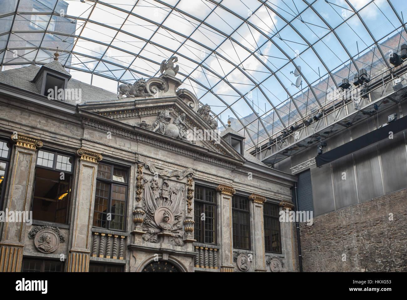 The Galeries Royales Saint-Hubert or Galerie de la Reine in Brussels. Belgium - Stock Image