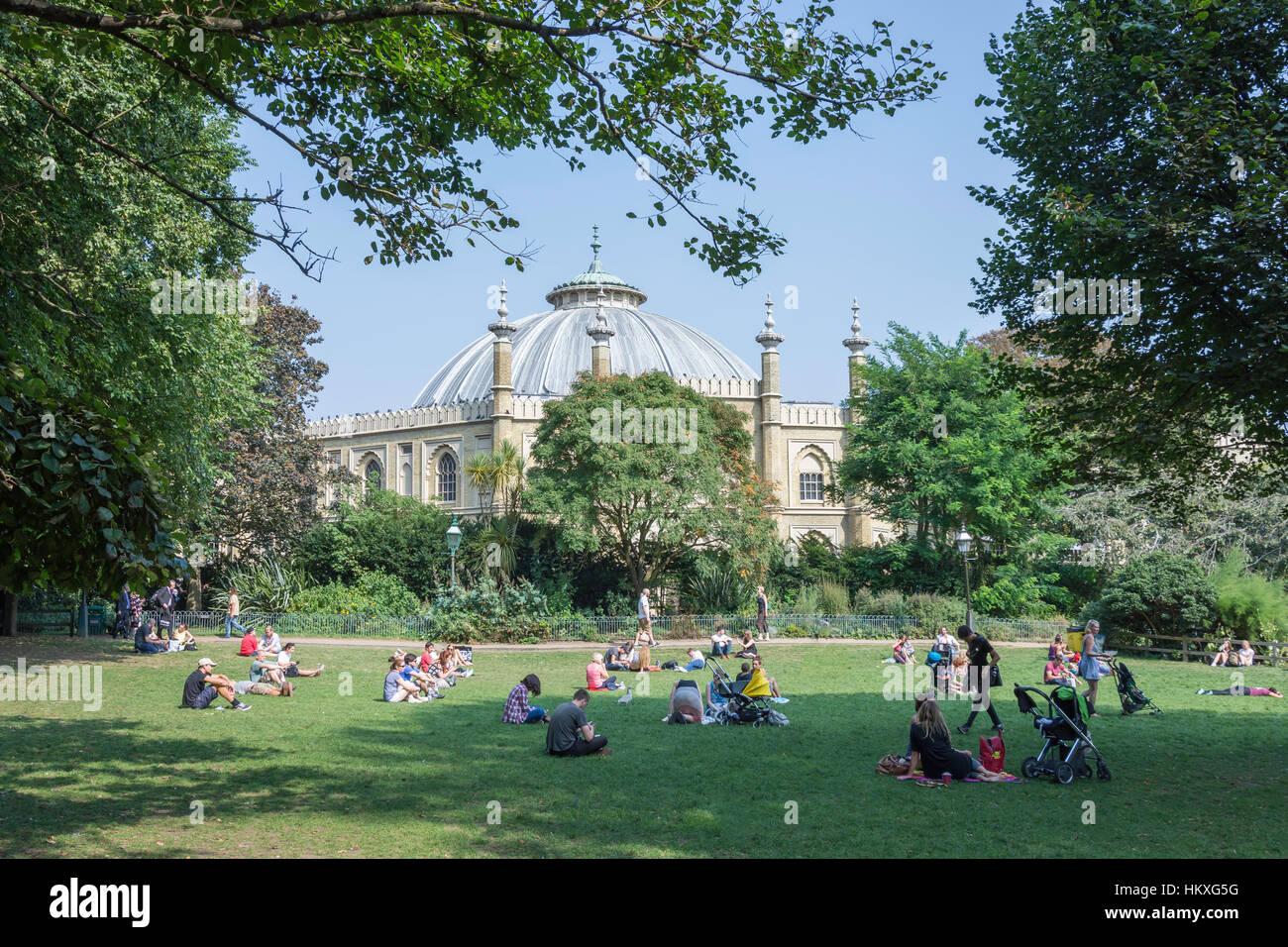 Royal Pavilion Gardens and Brighton Museum & Art Gallery, Brighton, East Sussex, England, United Kingdom - Stock Image