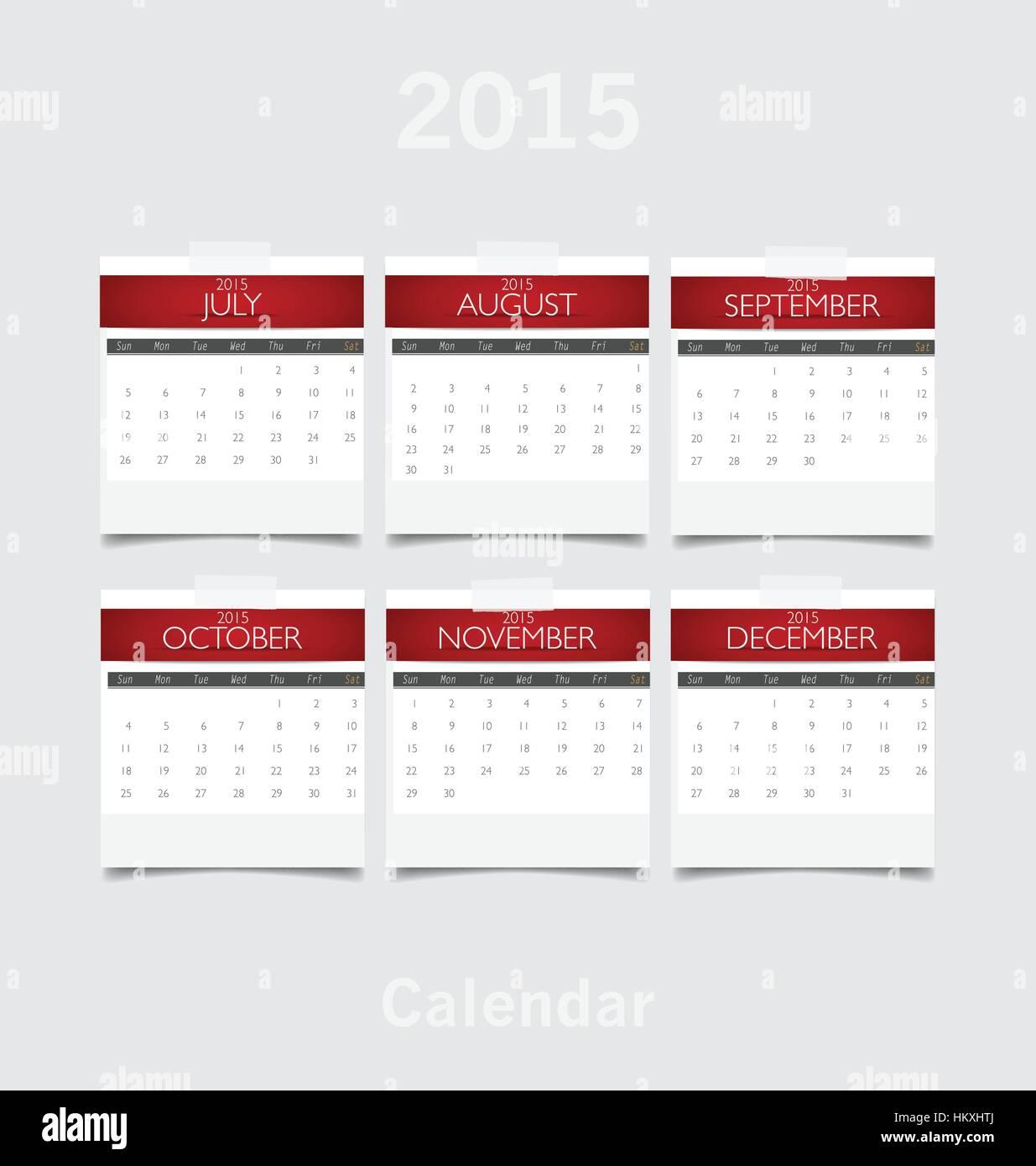 October November December Stock Photos & October November