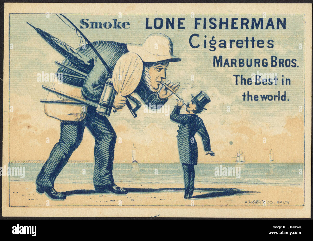 Smoke Lone Fisherman Cigarettes Marburg Bros The Best In The World