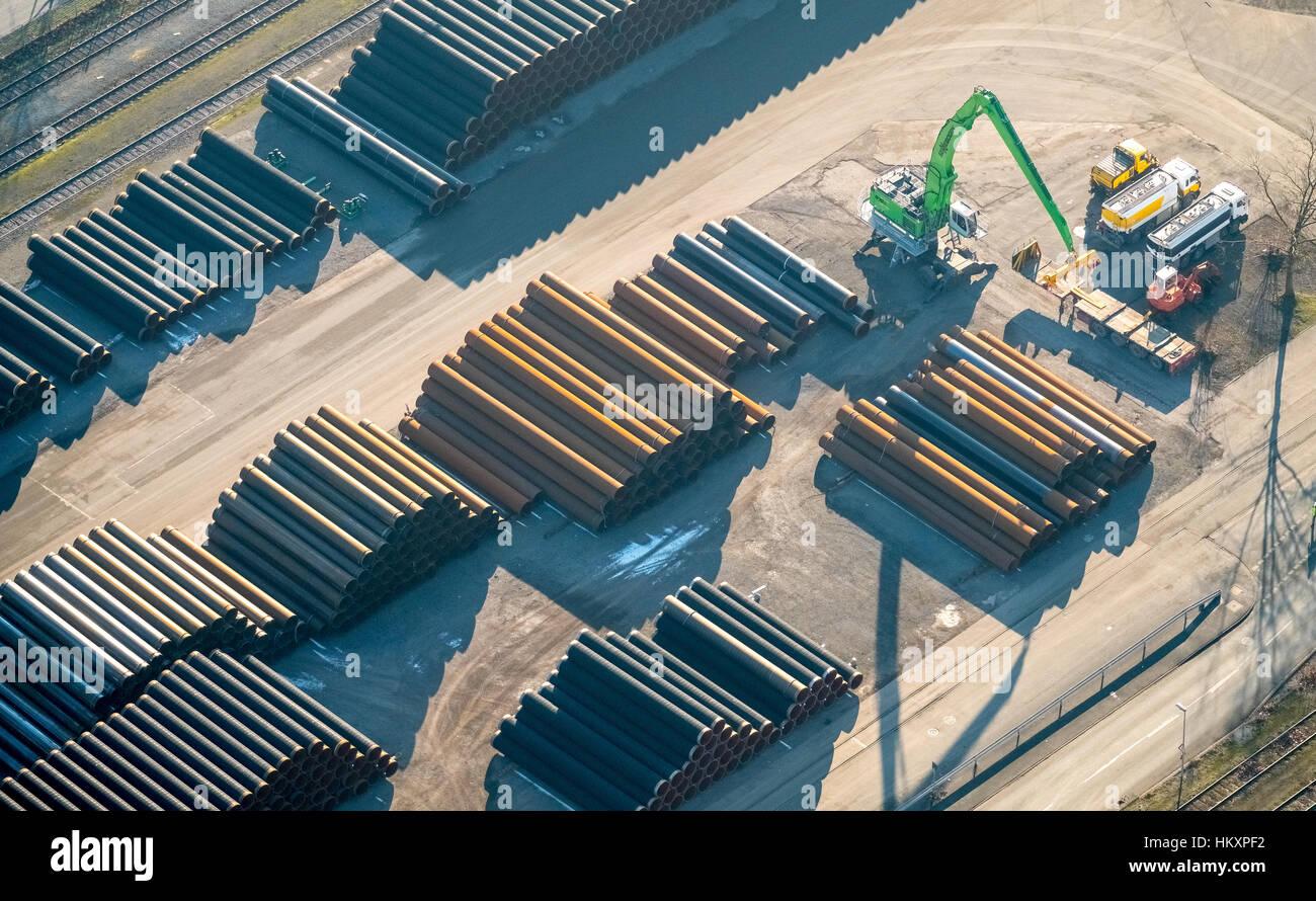 EUROPIPE, pipeline pipes, pipe manufacturers, Mülheim, Ruhr area, North Rhine-Westphalia, Germany - Stock Image