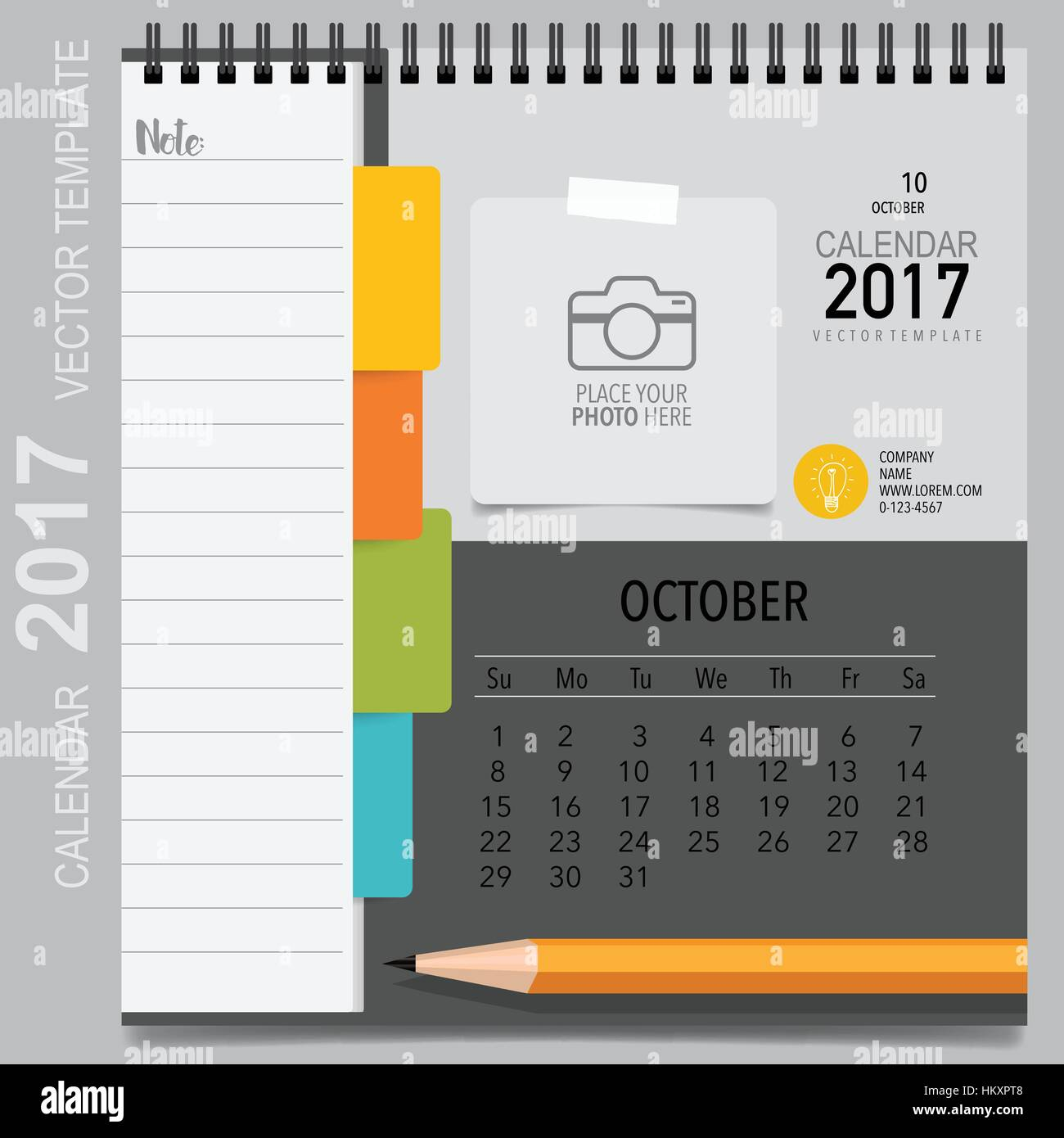 2017 Calendar Planner Vector Design Monthly Calendar Template For
