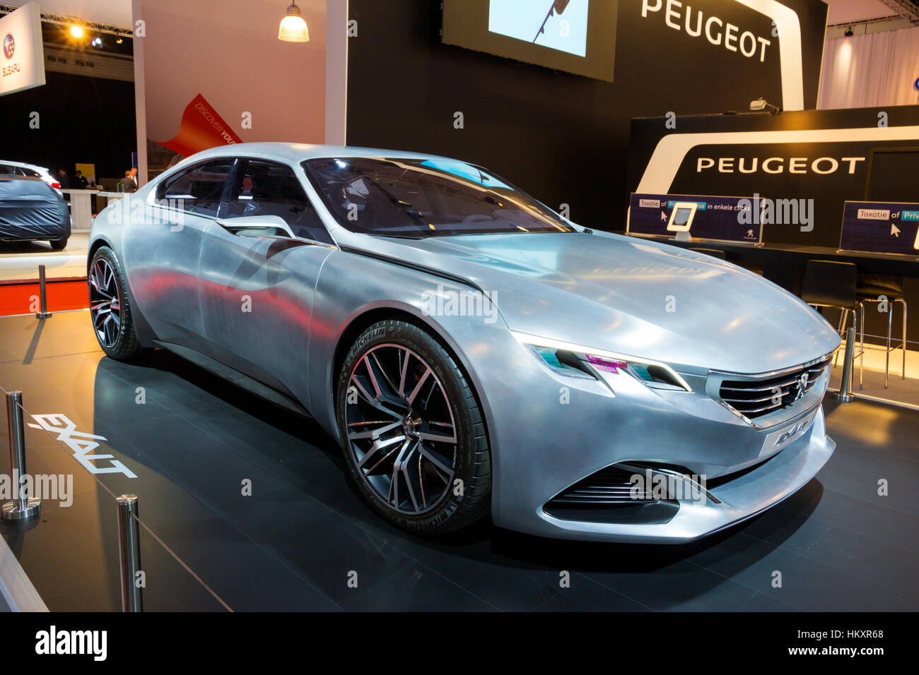 AMSTERDAM - APRIL 16, 2015: Peugeot Exalt concept car at the AutoRAI 2015. - Stock Image