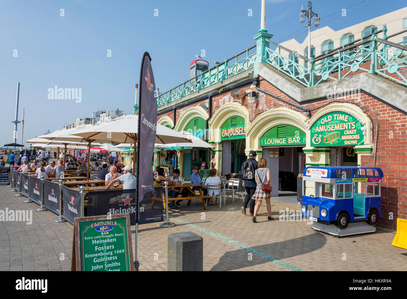 Carousels Bar, Kings Road Arches, Brighton, East Sussex, England, United Kingdom Stock Photo
