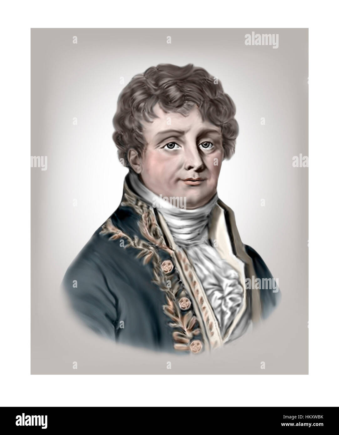 Jean Baptiste Joseph Fourier, 1768-1830, Mathematician, Physicist - Stock Image