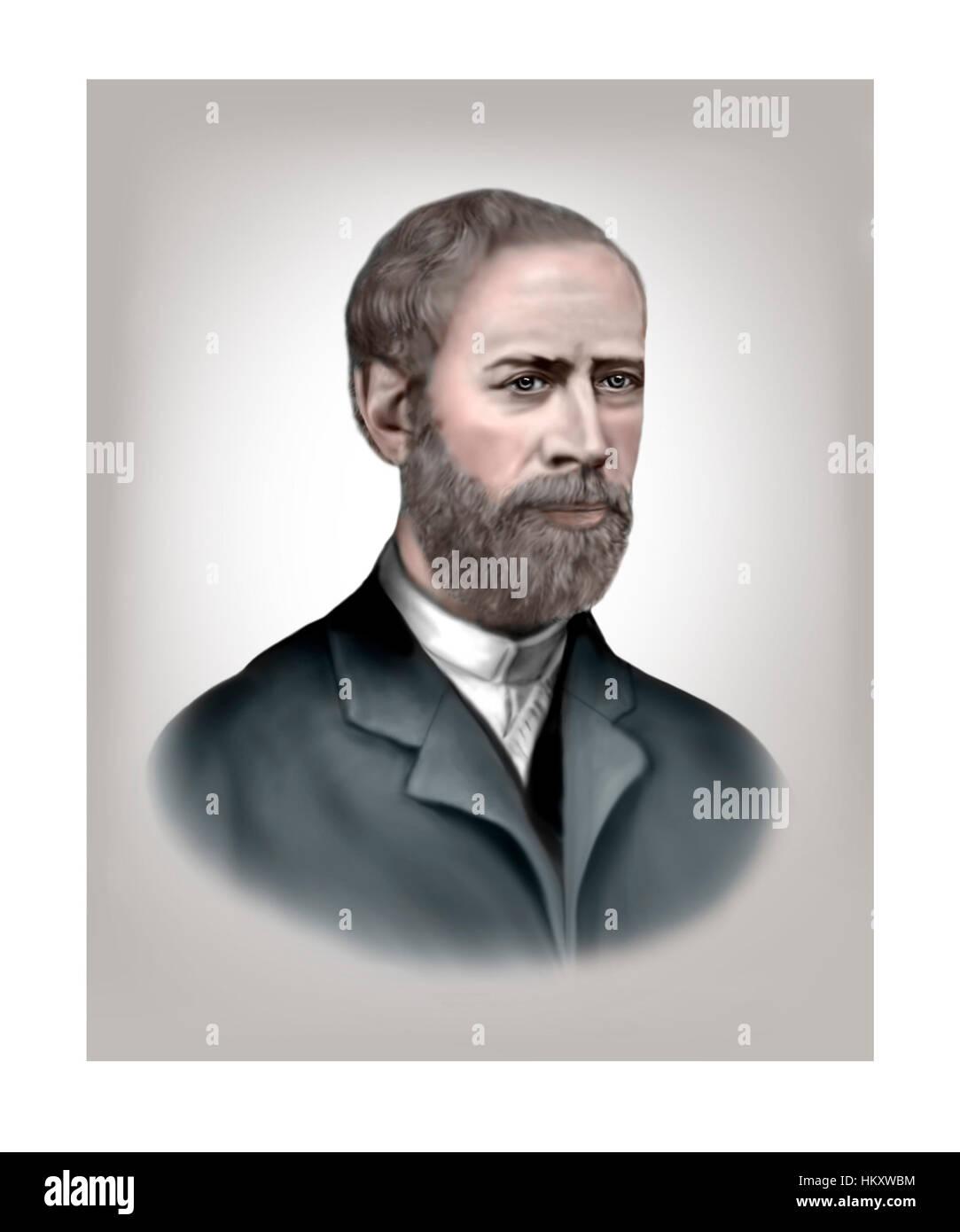 Heinrich Hertz, 1857-1894, Physicist - Stock Image