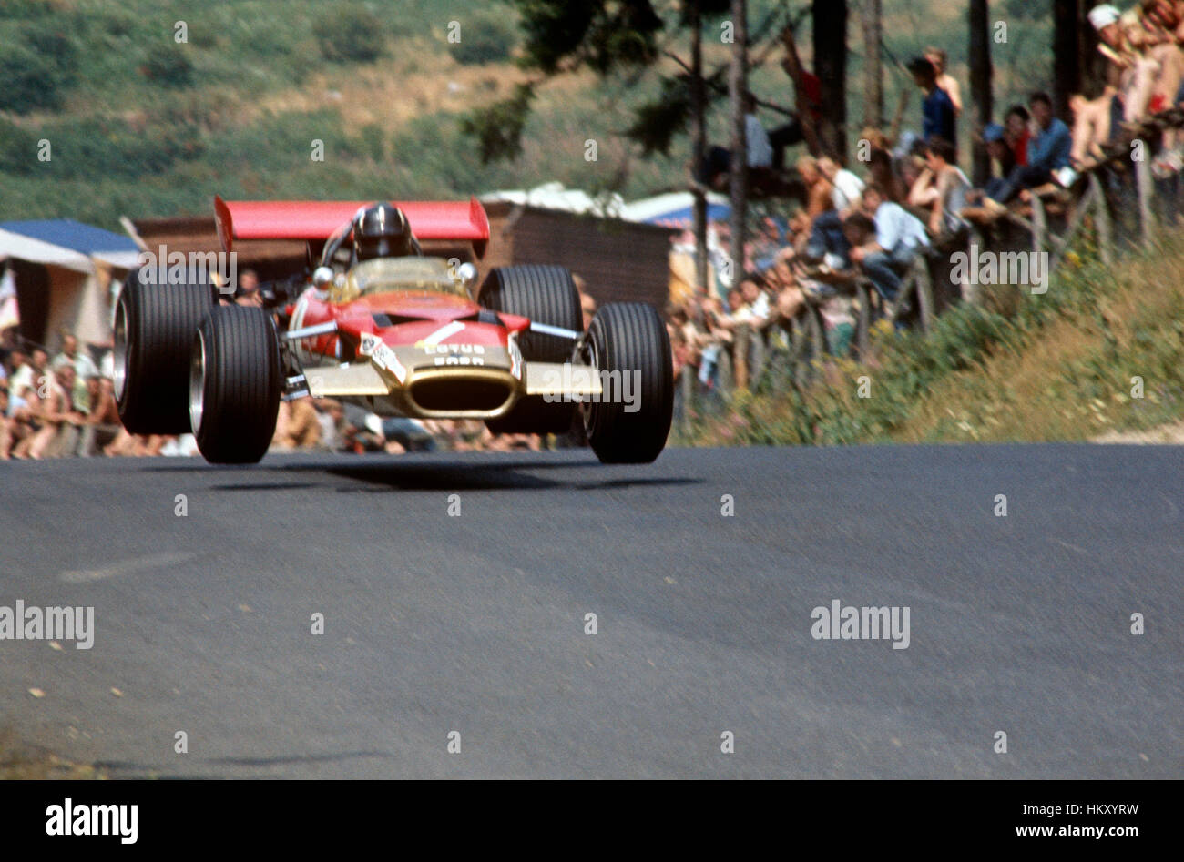 1969 Graham Hill Lotus 69 Nurburgring GP 4th Place Germany Stock ...