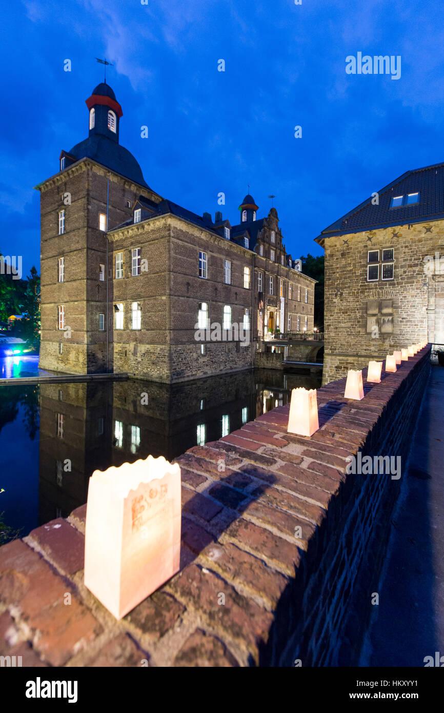 Castle Hugenpoet, Essen-Kettwig, hotel and restaurant, water castle, - Stock Image