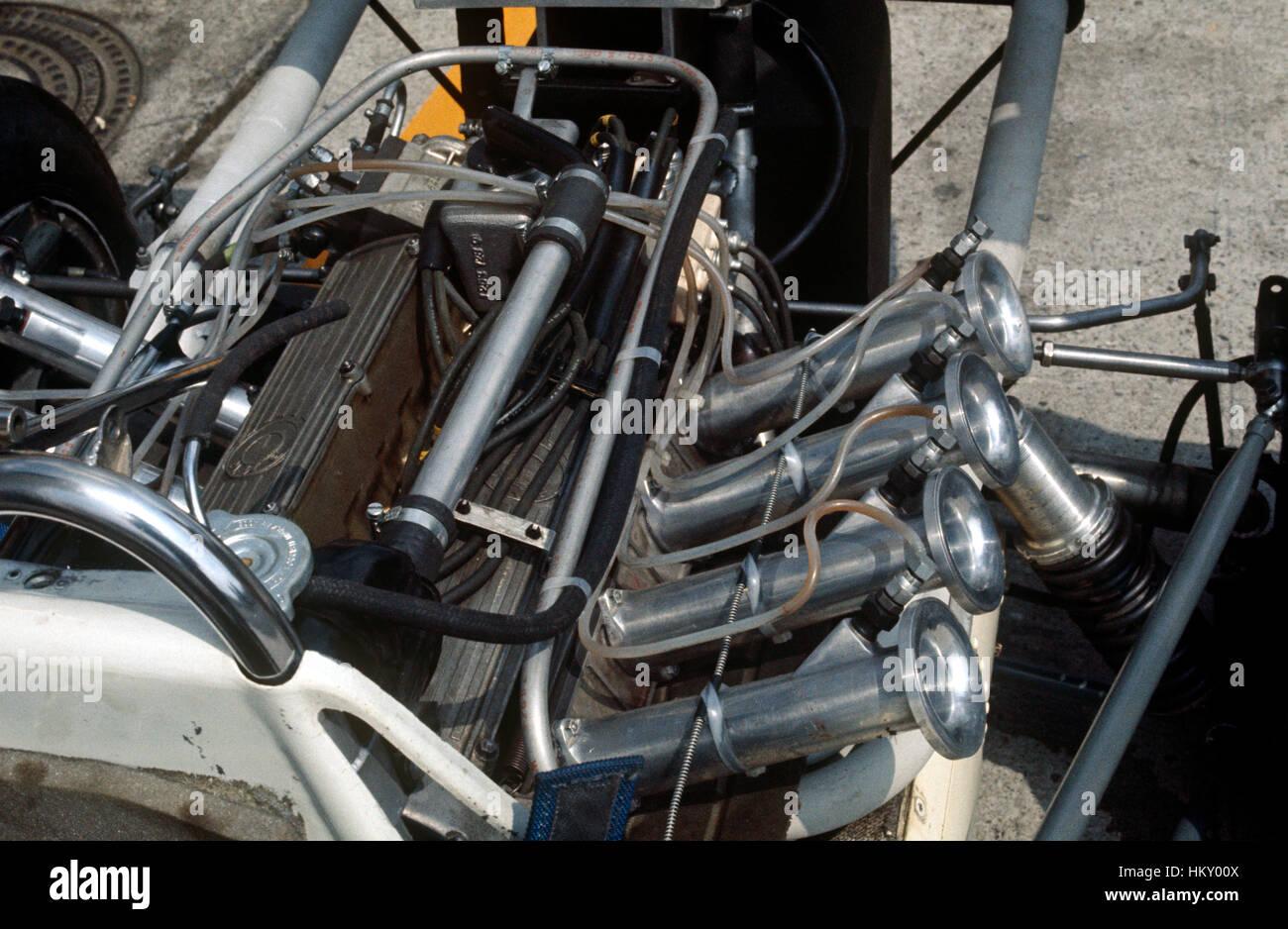 1969 Formula One engine detail - Stock Image