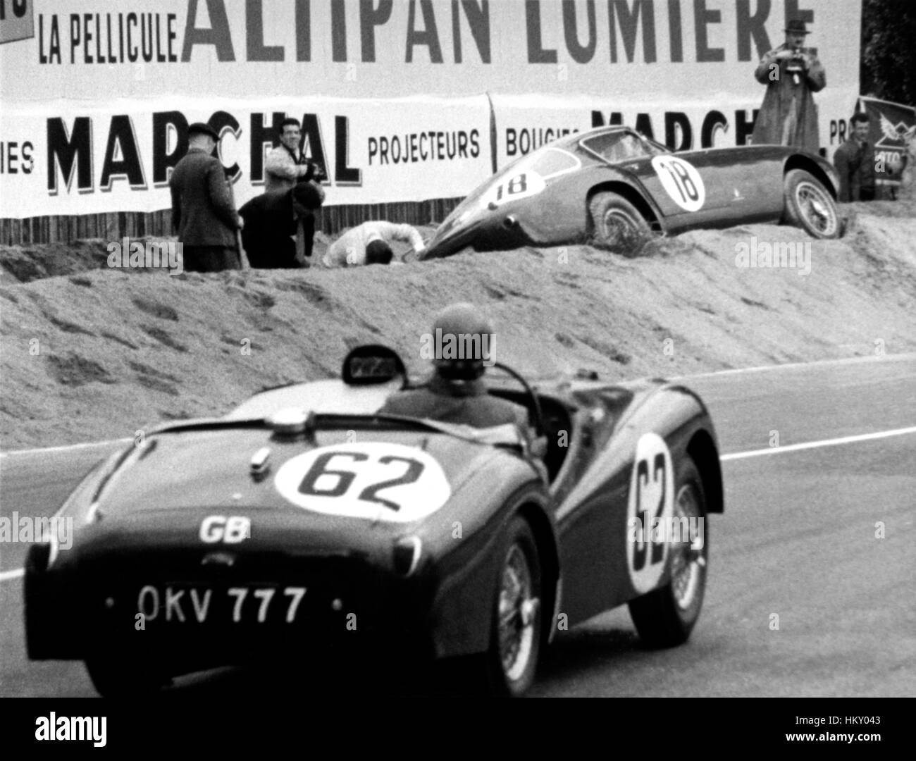 1954 Edgar Wadsworth GB Triumph TR2 Le Mans 24 Hours 15th GG - Stock Image