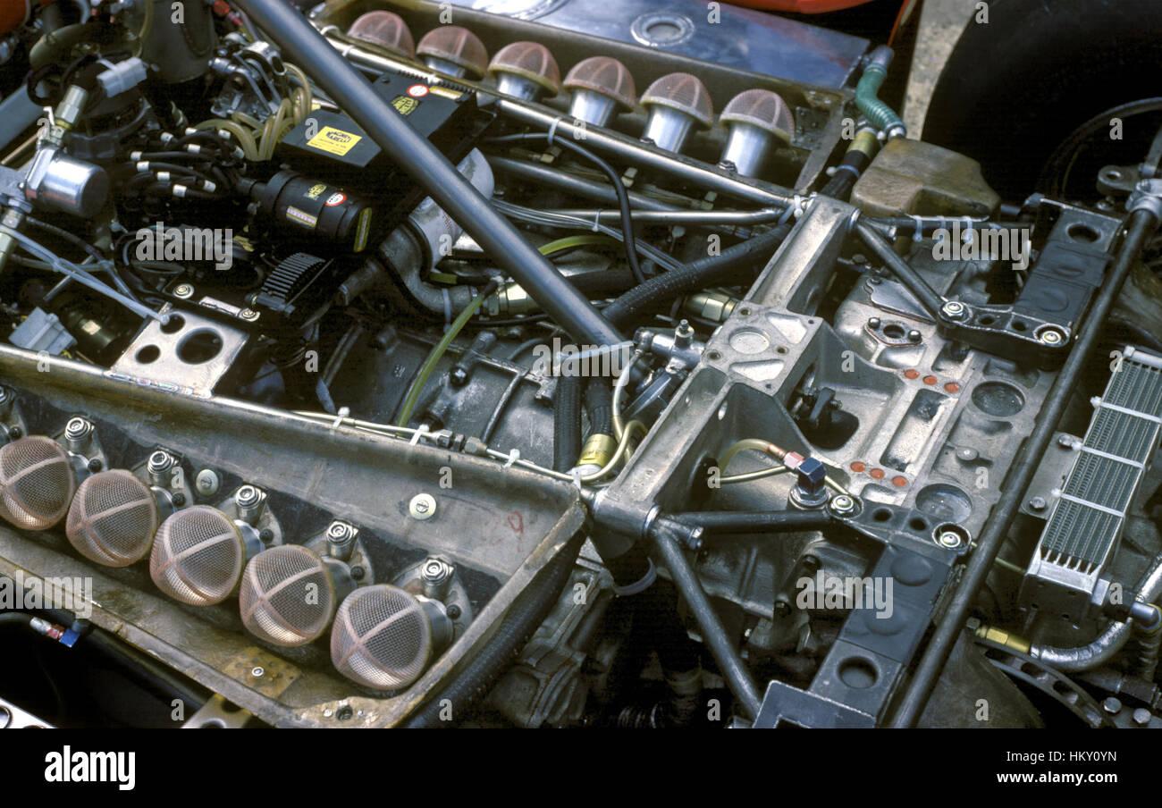 1971 Ferrari 312B2 Motor GG - Stock Image