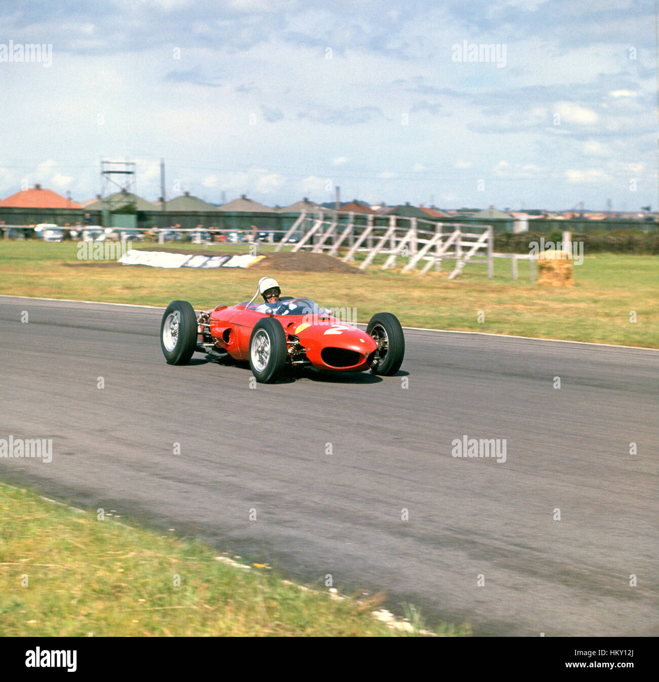 1961 Phil Hill US Ferrari 156 Aintree British GP 2nd GG - Stock Image