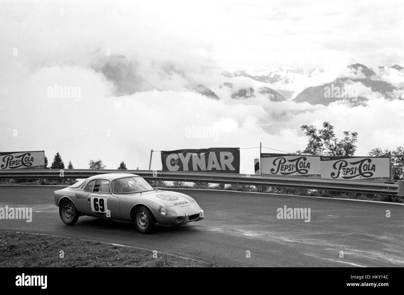 Walter Egger Swiss Rene Bonnet Djet Ollon-Villars Hillclimb 46th FL - Stock Image