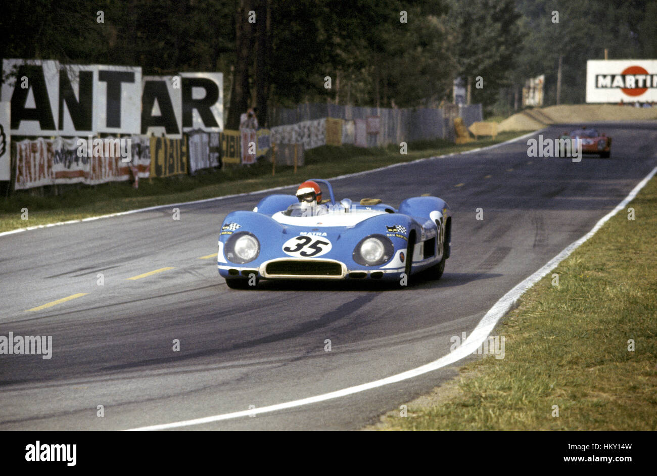 1969 Robin Widdows GB Matra MS650 Le Mans 24 Hours 7th GG - Stock Image