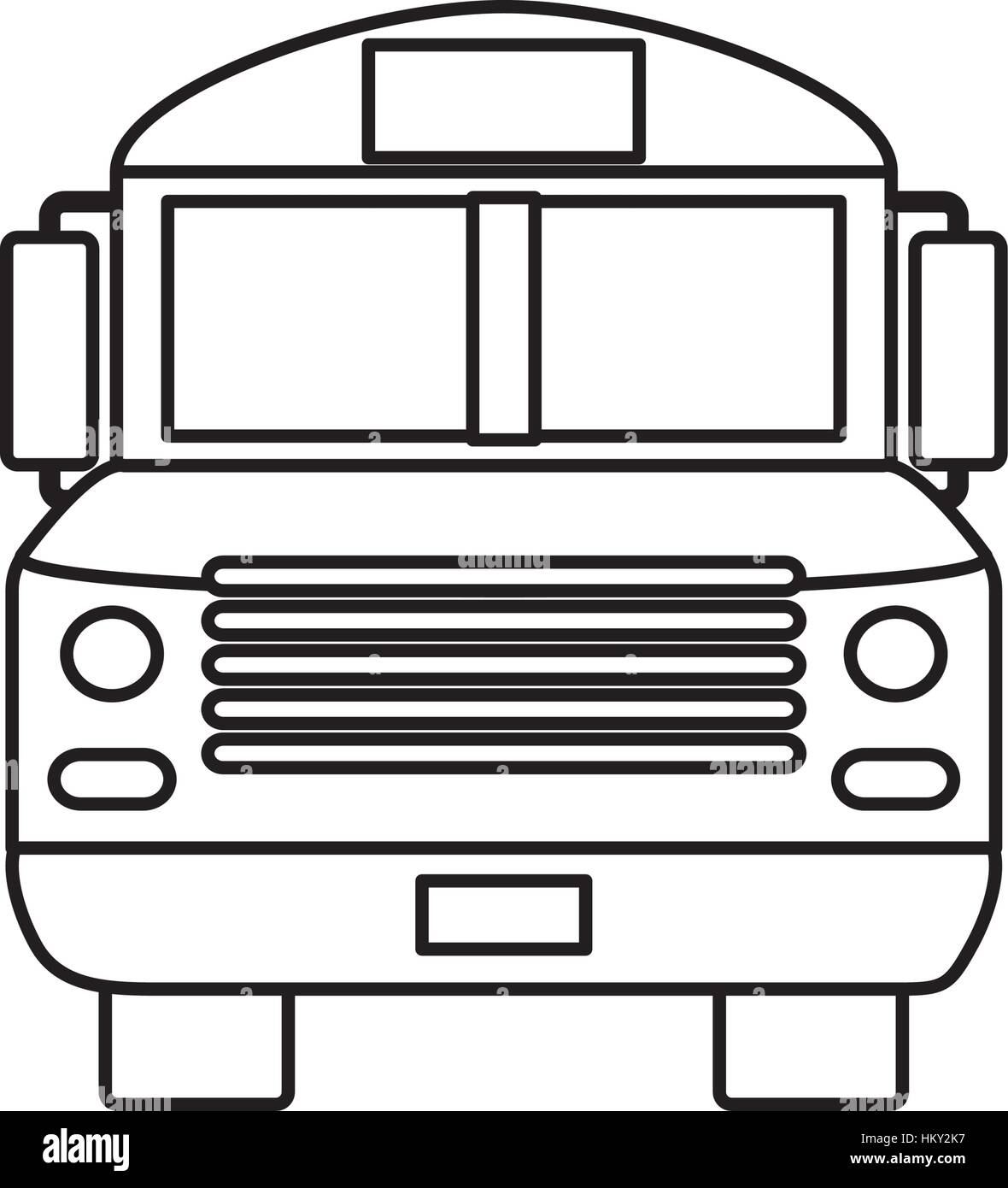 School bus front view icon vector illustration graphic ...
