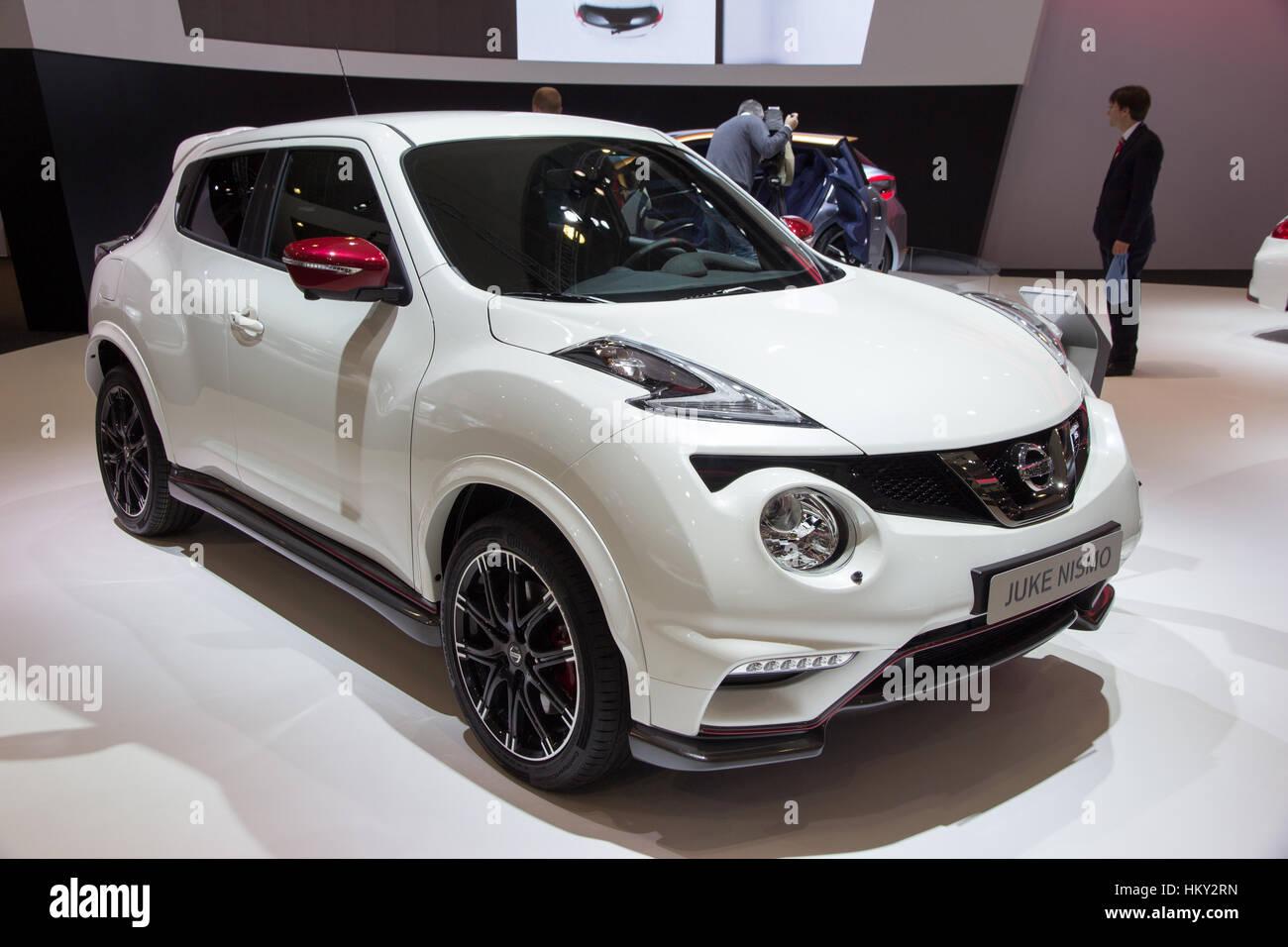BRUSSELS   JAN 12, 2016: Nissan Juke Nismo On Display At The Brussels Motor