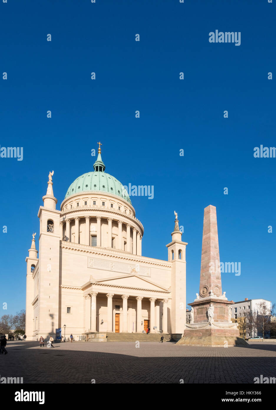 Nikolaikirche church in the Alter Markt (Old Market) Potsdam , Germany - Stock Image