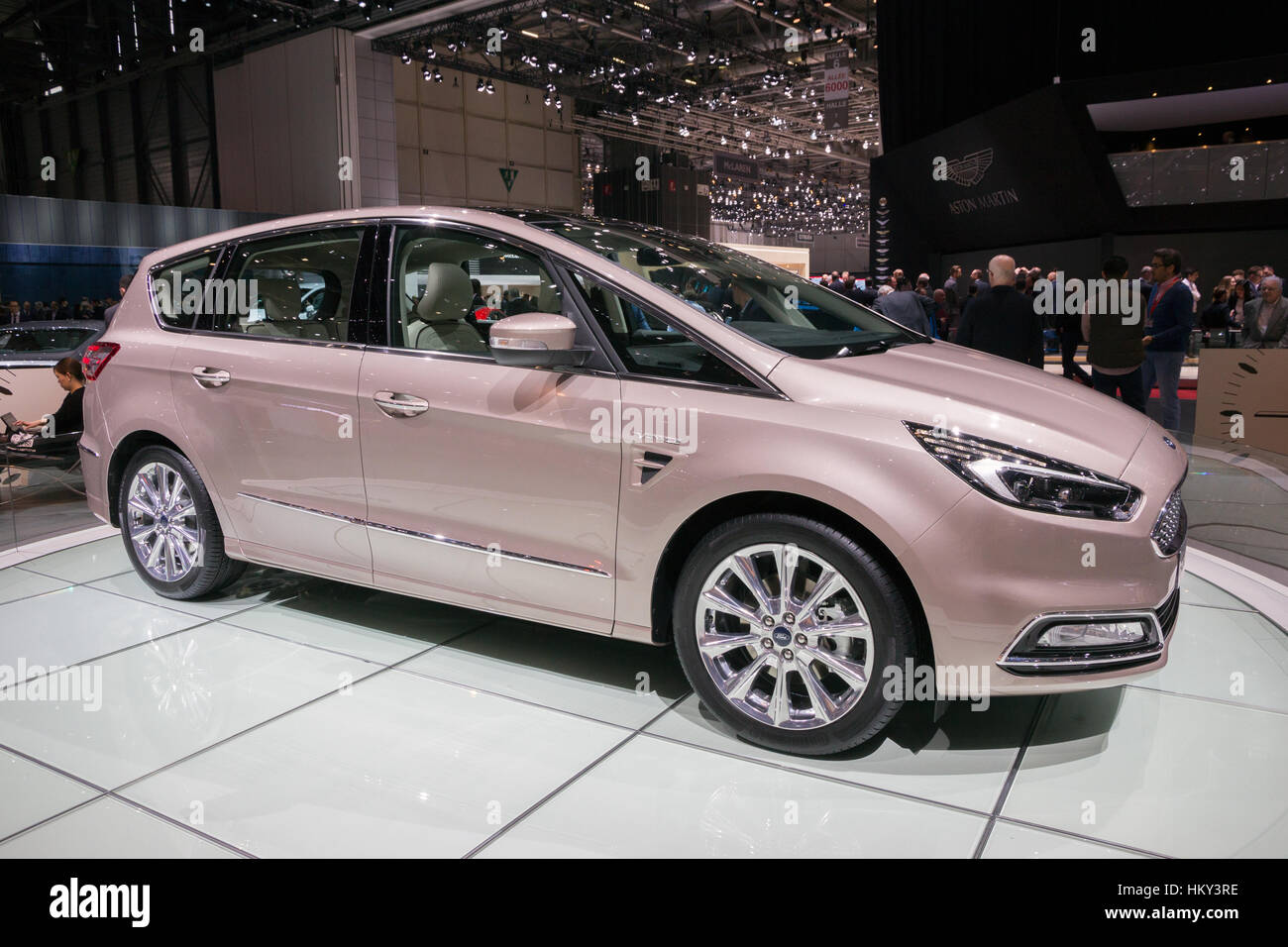 GENEVA, SWITZERLAND - MARCH 2, 2016: Ford S-Max Vignale shown at the 86th International Geneva Motor Show in Palexpo, - Stock Image