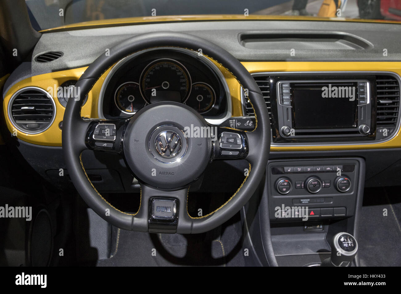 Volkswagen Beetle Cabrio Stock Photos 1960 Interior Brussels Jan 19 2017 Dashboard Vw On Display At The