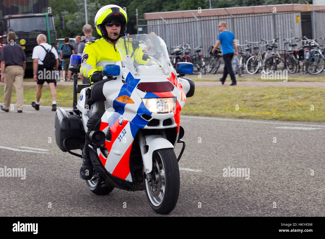 Den Helder The Netherlands July 7 Dutch Police Motorbike Stock Photo Alamy