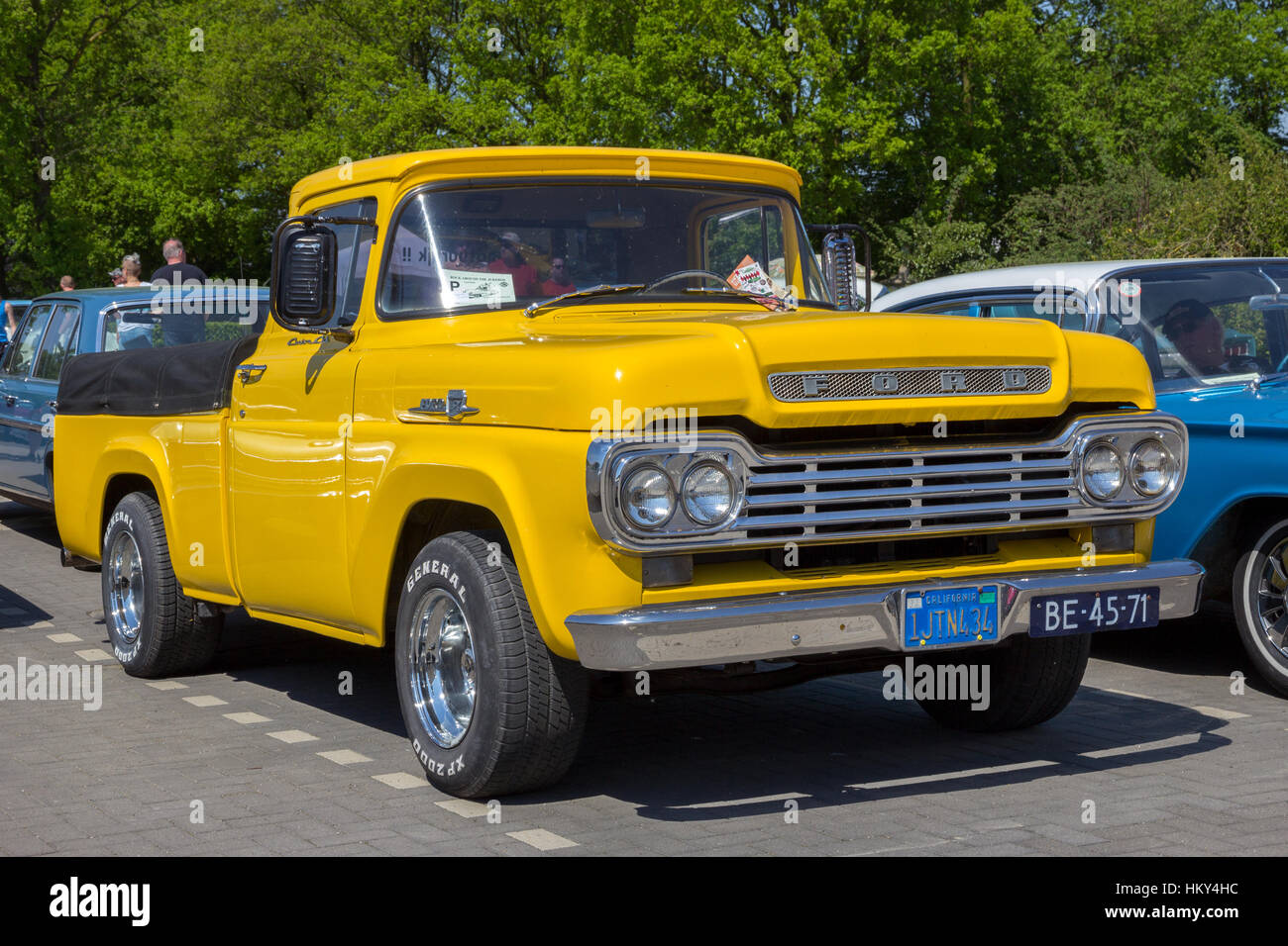 Ford F100 Pickup Truck Stock Photos 1955 Panel 1959 Image